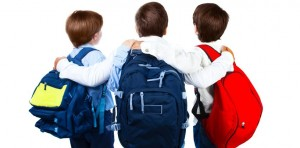 Kids with rucksacks